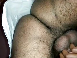 Indian lady groaning while plowed from behind