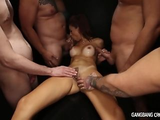 5 relatives give ultra-kinky mummy civilized cumshot gang-bang and several facials sex video