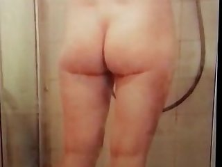 the sexy ass and hairy pussy of my wife recorded with my hidden camera in our shower.