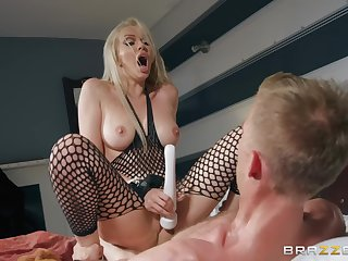 Blonde mature squirts after a scorching sex with mad Danny D