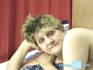 Granny loves fucking her dildo on cam