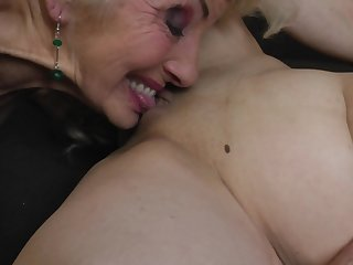 Iris V. in a hardcore lesbian threesome with her mature friends