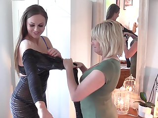 Tina Kay and Amy take off each others clothes and start touching