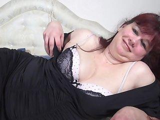 Long haired redhead mature amateur BBW MILF Bianca M.