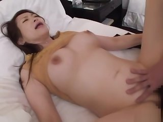 Naughty Asian babe gets her wet muff teased indoors