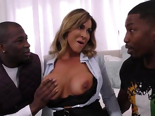 Arousing Realtor Mommy Takes On Two Younger B - big titties