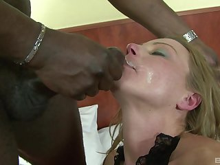Mature blonde Suzy has her asshole gaped and face covered with cum