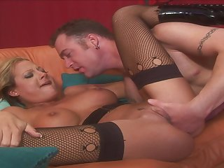 Blond Hair Lady Whore Gets All Her Wet Shag Holes