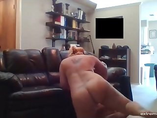 Hidden camera video. Since her divorce my wife has sex with our handyman.