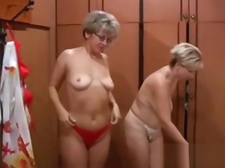 Two blonde MILF in lingerie get wild with a young gigolo