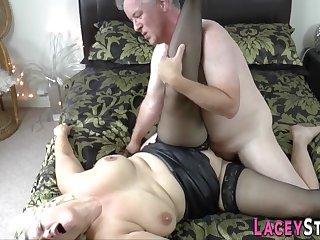 Granny loves a big hard male stick in her cunt