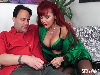 Redhead mature Sexy Vanessa loves to fuck badly with her friend
