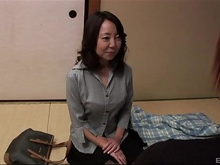 mature asian Saya craving for hard and long friend's penis