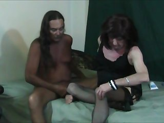 Jamie Sucks and Fucks Gena Transvestite Cock Slut