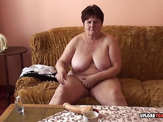 Mature fat lady just had to take off her clothes once she was the camera.