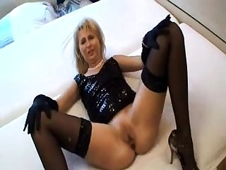 British mature stockings amateur sucks on hard cock