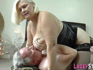 Granny loves a big hard one-eyed snake in her vagina