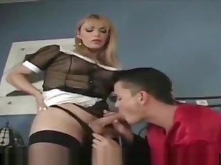 Tranny servant and young boss