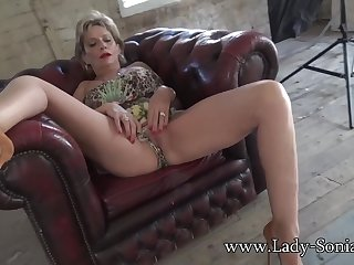 Mature Lady Sonia flashing and teasing