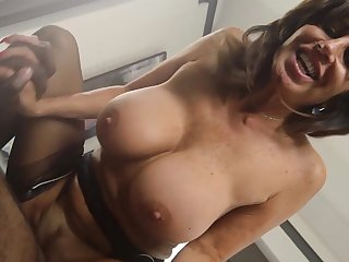 Mature maid deals master's huge black cock in rough modes