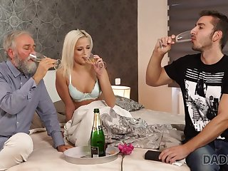DADDY4K. Old and young babe intercourse experiment is a birthday...