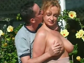 This horny dick loving cougar certainly has a quality pair up front